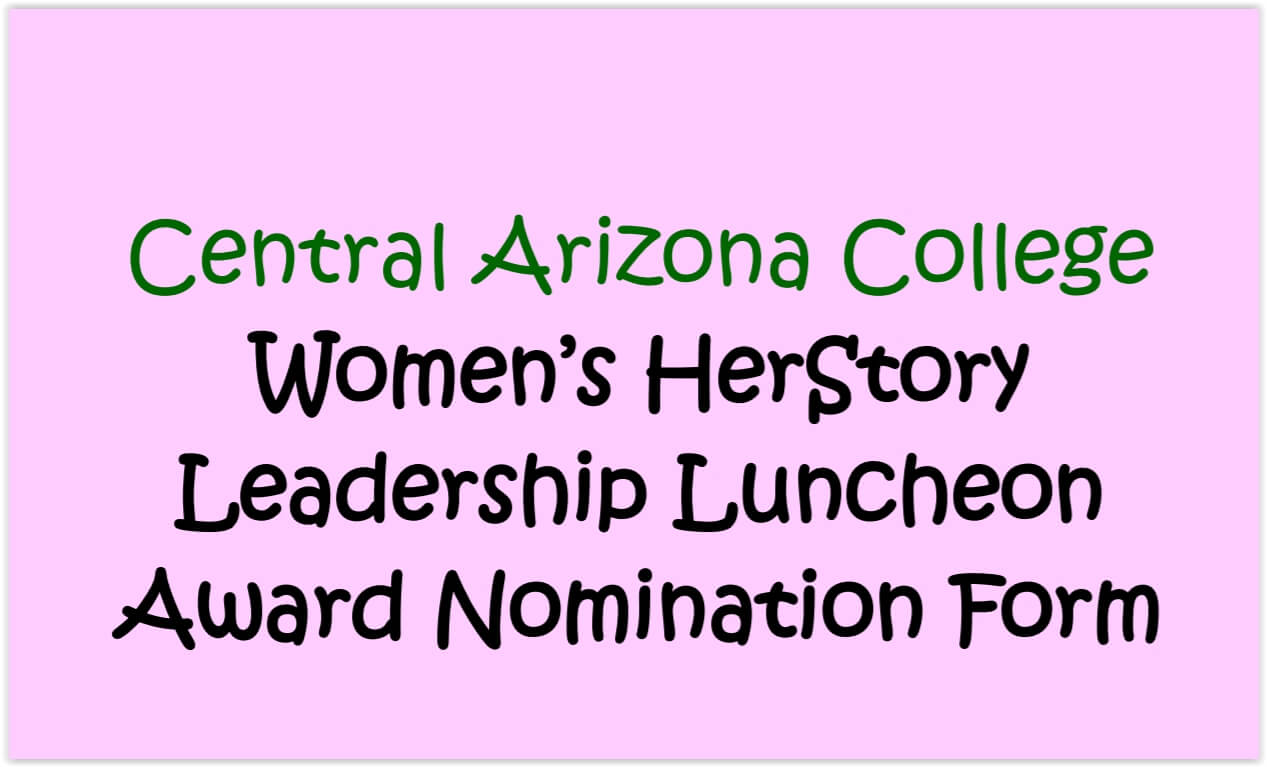 Nominate an Exemplary Woman Leader in San Tan Valley