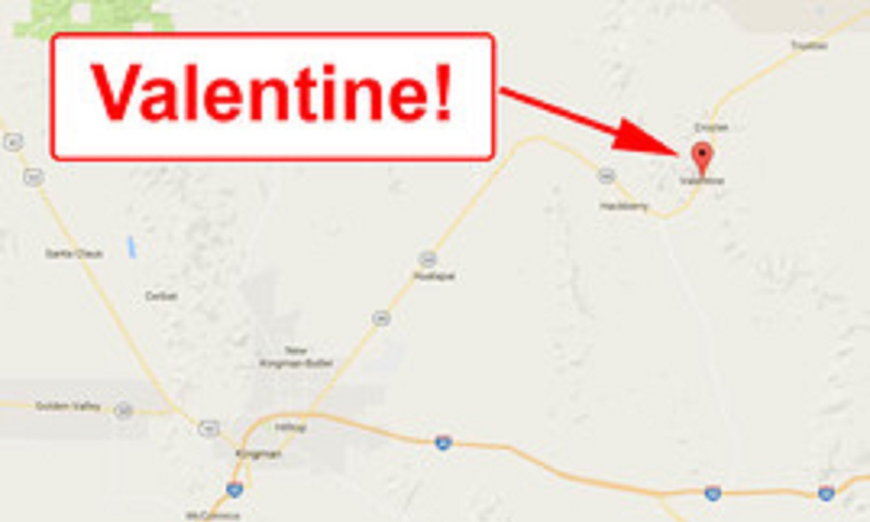 If you can't find Love, try driving to Valentine