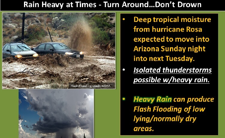 Arizona dam could fail and flood village after Hurricane Rosa rain