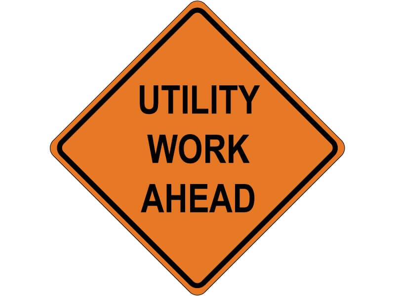 Utility work on SR 87 in Coolidge