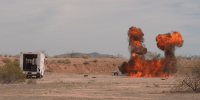 Explosives experts training in Pinal Air Park
