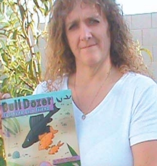 "Kathy Hughes' book, ""Bull Dozer Learns to Be a  Friend,"" sells for $19.99 on Amazon.com."