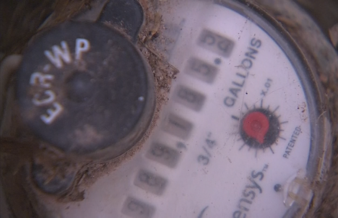 After several high bills, Florence man records water meter acting strangely