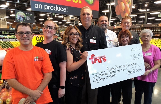 Fry's Food Stores Shares $5,000 with AJ Food Bank, Celebrating its New AJ Marketplace Store Opening