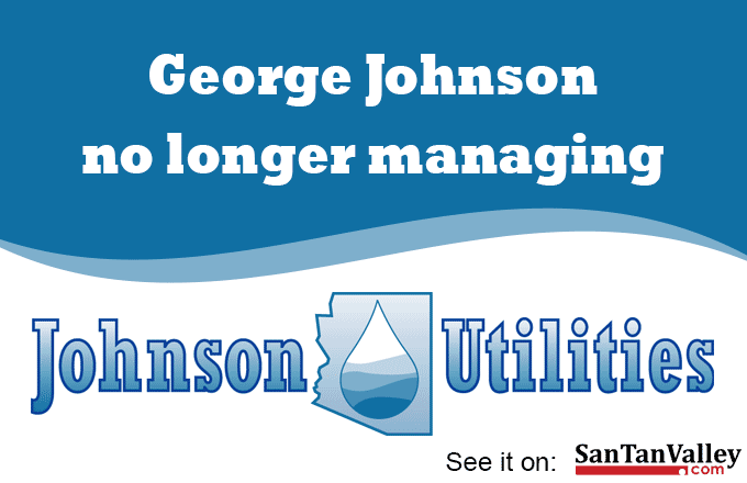 George Johnson Removes Himself from Mgmt of Johnson Utilities