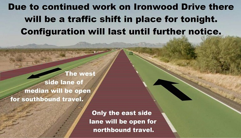 Traffic Alert for Ironwood Drive