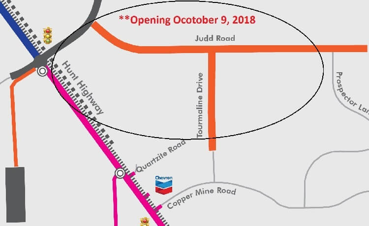 Judd and Tourmaline Roads Scheduled to Open October 9