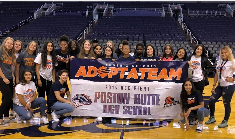 Poston Butte Girls' Basketball Team Adopted by Phoenix Mercury