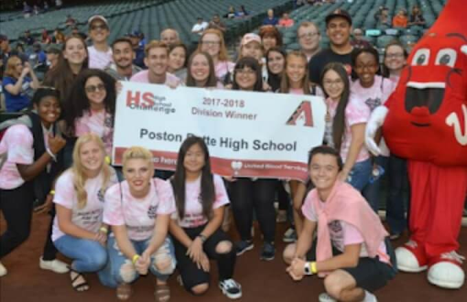 Poston Butte High School Earns Division Award in AZ Blood Drive Challenge