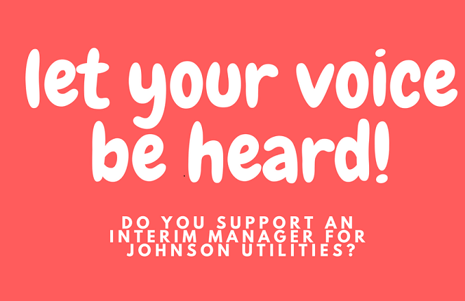 Do You Support an Interim Manager for Johnson Utilities?