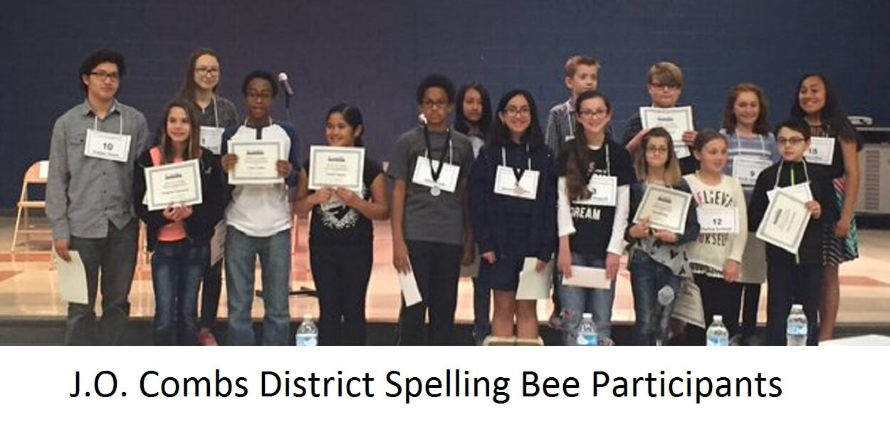 J.O. Combs District Spelling Bee Participants