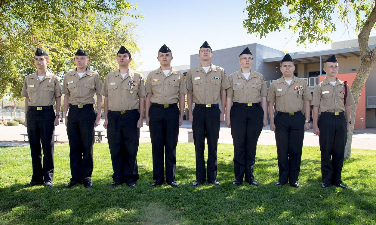 Combs High School ROTC students