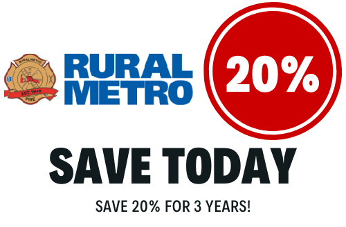 20% off Rural Metro for 3 years!